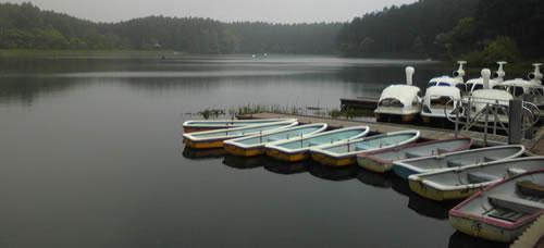 Daizahoshi-ike Lake in Iizuna Nagano