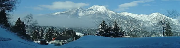 Mount Myoko in winter - Myoko Kogen