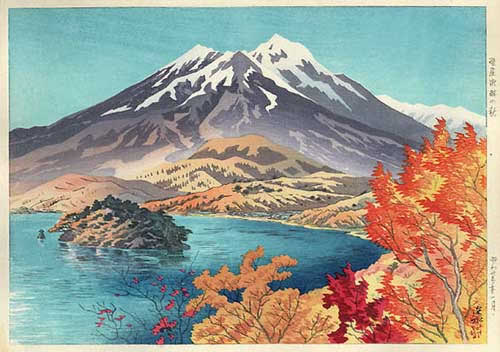 Autumn by Lake Nojiri, by Ito Shinsui (1948)